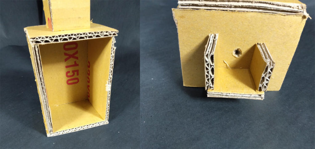 紙製電梯造型
