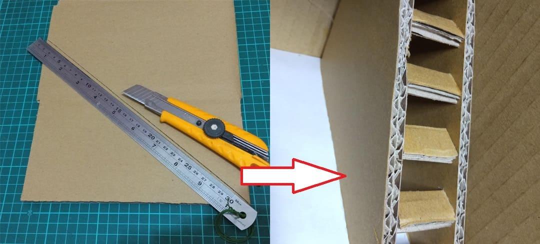 紙板樓梯製作