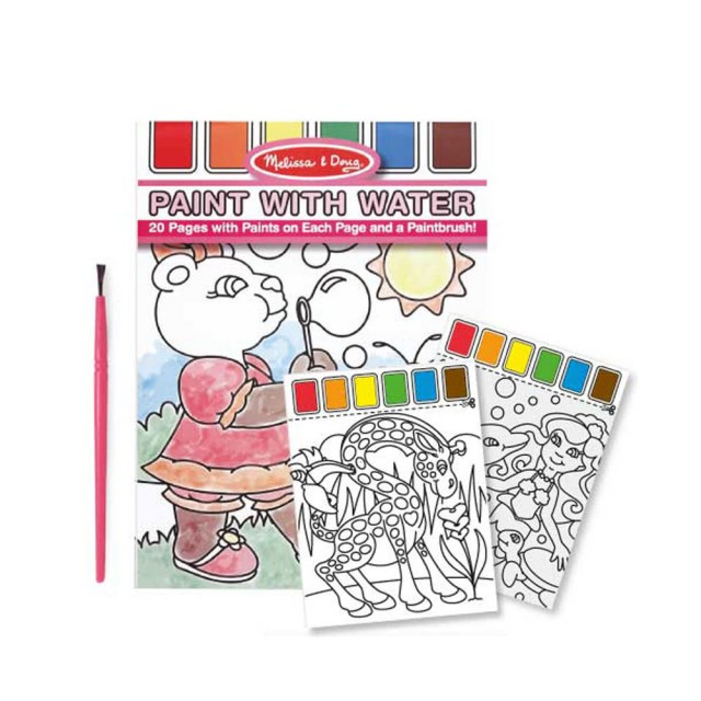 瑪莉莎 兒童水彩繪圖本-附畫筆
