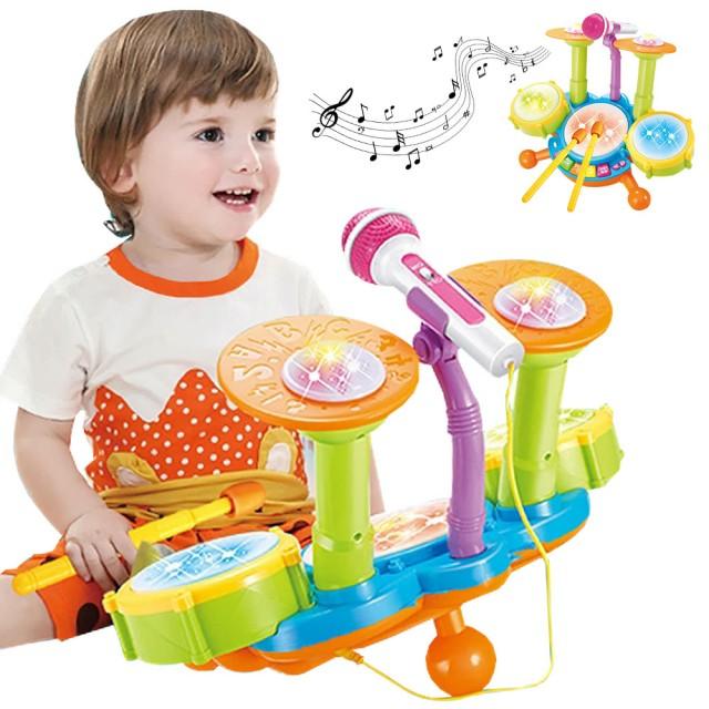童趣爵士鼓 電動燈光音樂鼓玩具