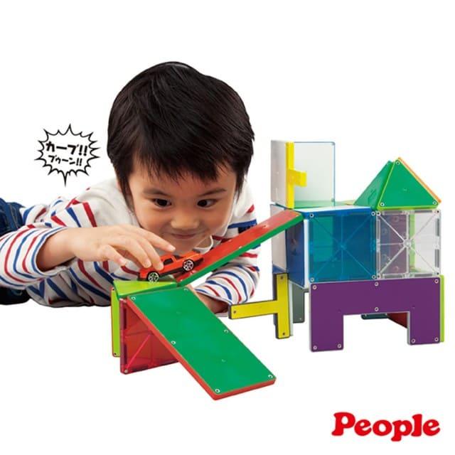 日本PEOPLE-4歲男孩的華達哥拉斯 磁性積木片組合