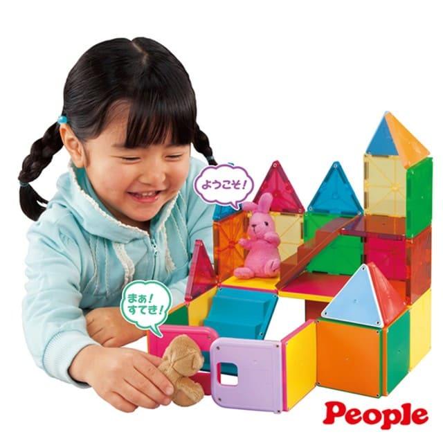 日本PEOPLE-4歲女孩的華達哥拉斯 磁性積木片組合
