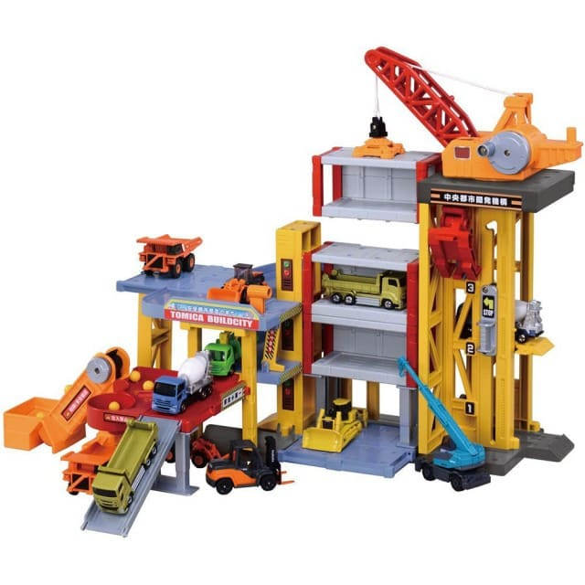 tomica 工地建設場景玩具