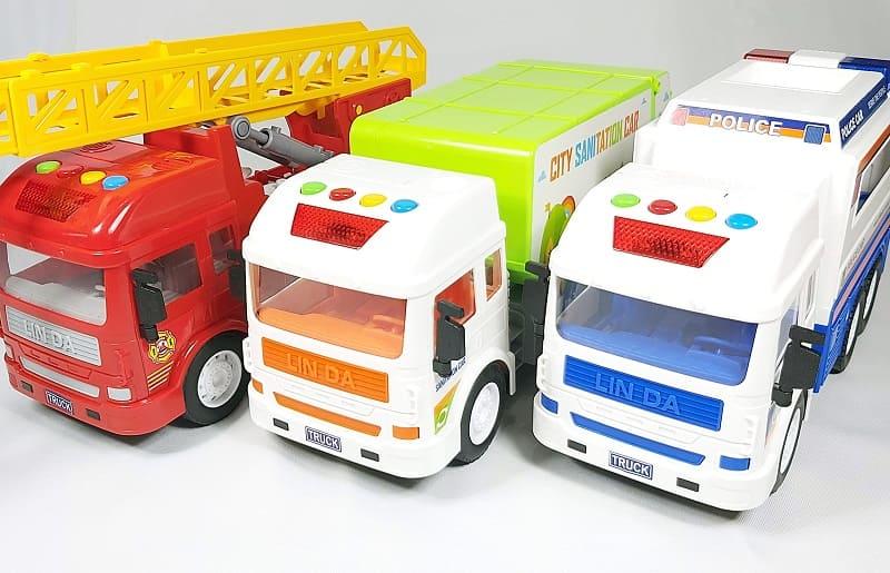 玩具車推薦 - 聲光磨輪工程車系列