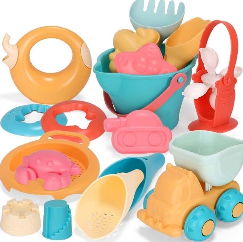 夏日沙灘挖沙玩水玩具17件組