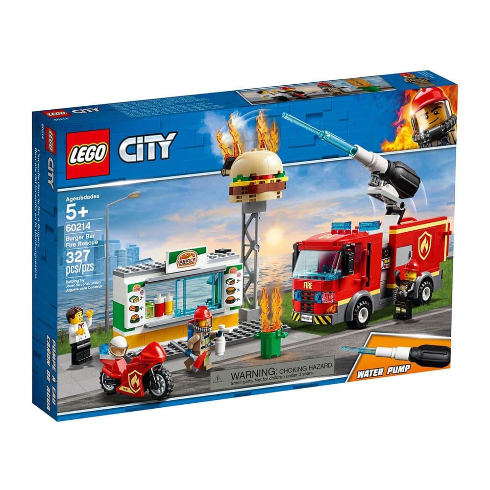 樂高城市系列-漢堡餐廳火災救援 (60214)
