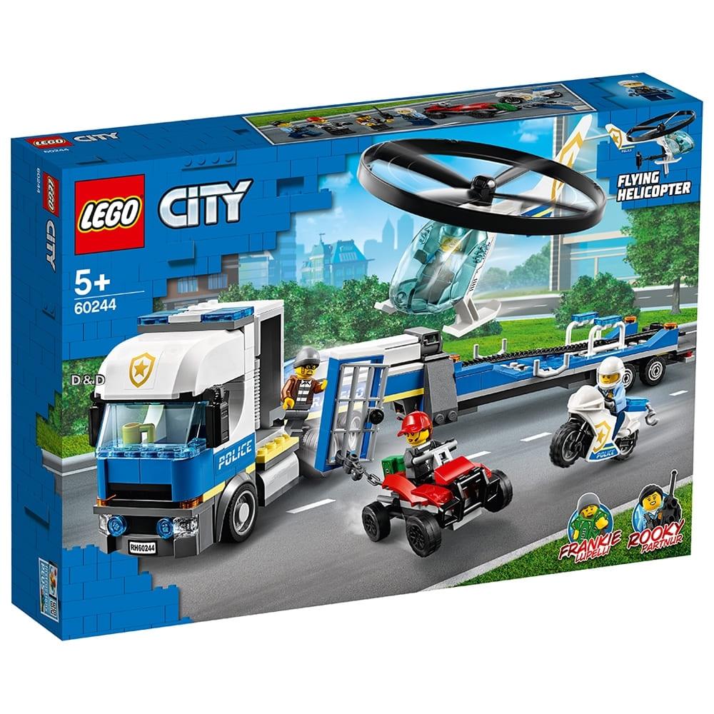 樂高城市系列 – 警察直升機運輸車 (60244)