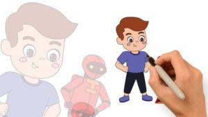 繪畫著色遊戲-男孩與機器人