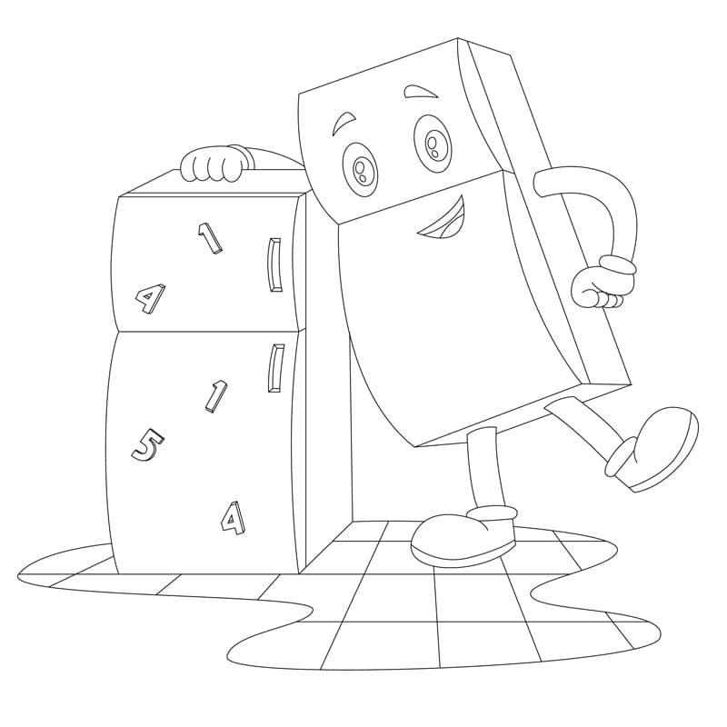 冰箱哥哥-兒童著色圖下載