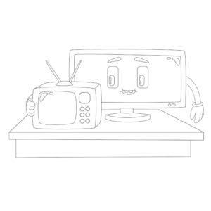 電視著色圖下載