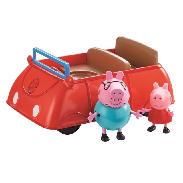 粉紅豬小妹-豬爸爸的小紅車