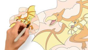 翼手龍與牠的小寶貝-彩色圖