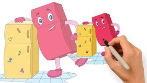 冰箱哥哥-兒童彩色圖參考