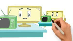 電視先生-兒童彩色圖