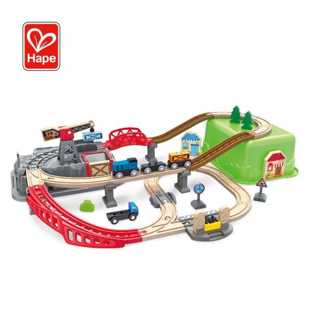 木製軌道火車玩具