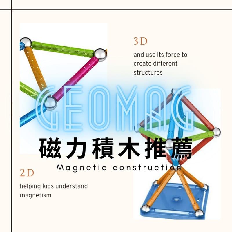 Geomag磁力積木推薦 – 學習2D~3D建構的好幫手
