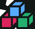彩色積木方塊組件