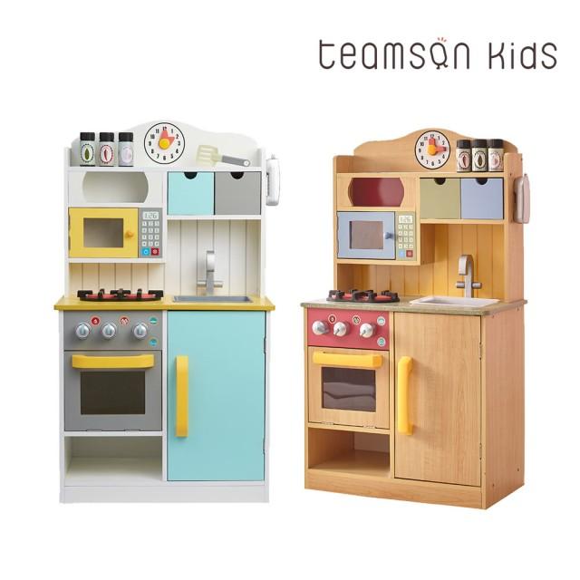 廚房玩具推薦-木製大型廚檯組