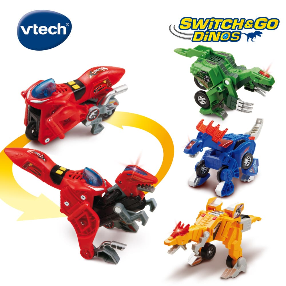 【Vtech】2合1聲光變形恐龍車(多款可選)