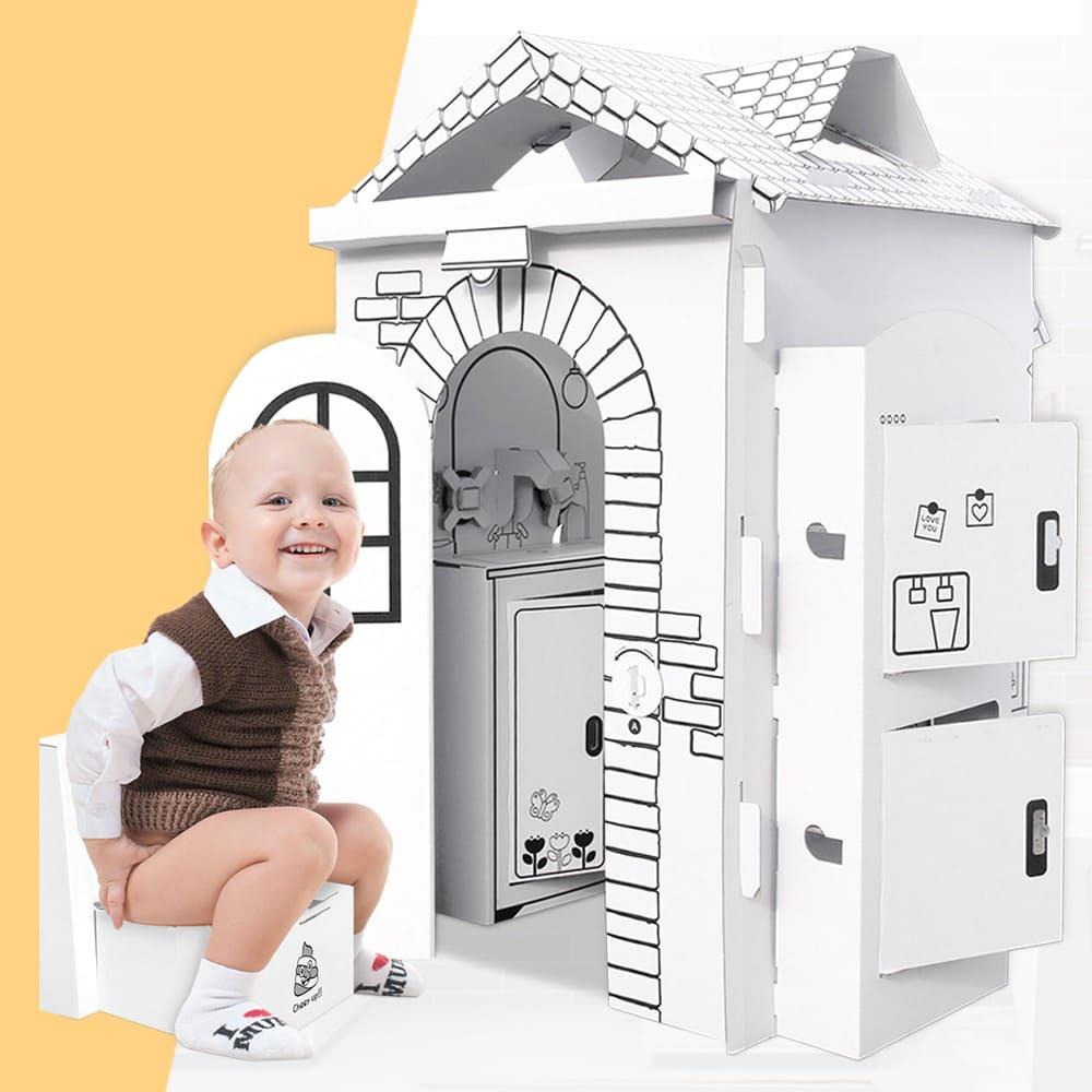 趣玩紙屋浴廁玩具屋