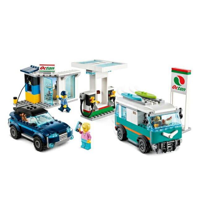 【LEGO 樂高】城市系列-加油維修站 #60257 (5歲半)